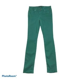 Level 99 Lily Skinny Straight Green Jean